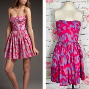 Rebecca Taylor sweetheart strapless bustier dress